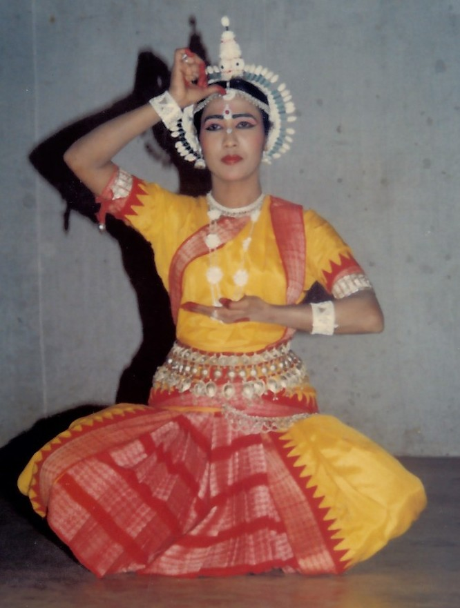 Bidisha Mohanty strikes a pose in the classical Odissi dance form. She imparts the ancient Odissi and Folk dance form in Bay Area (San Jose), USA.